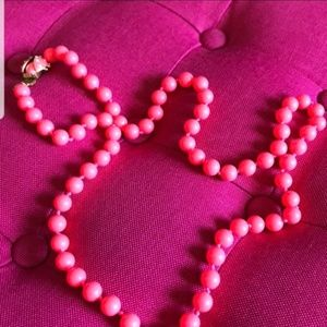 J Crew Hot Pink Beaded Necklace